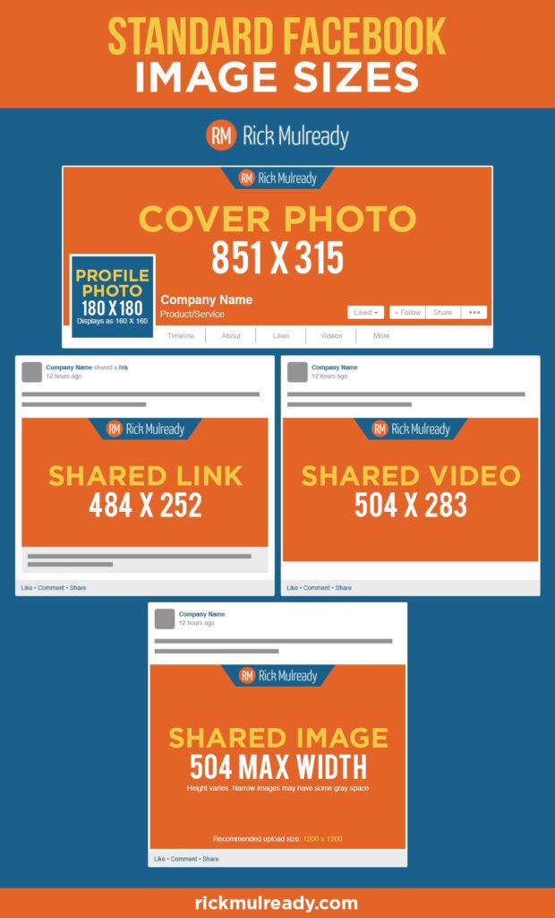 Standard Facebook Image sizes
